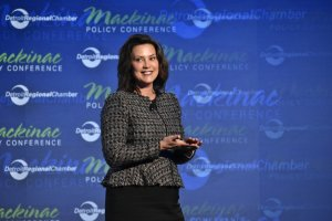 Gov. Gretchen Whitmer at the Mackinac Policy Conference